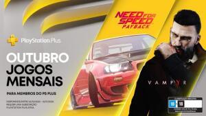 (Ps Plus) Need's For Speed Payback + Vampry! Jogos gratuitos de outubro
