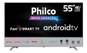 Smart Tv Philco 4k Led 55' Android TV - PTV55Q20AGBLS | R$1.999