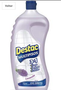 [PRIME] Limpador Multipisos Diluível Destac Lavanda e Alfazema, 750ml - R$ 2,57