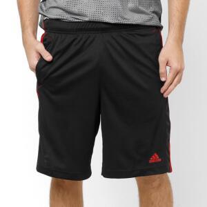 Bermuda Adidas Knit ESS 3S 2 Masculina - Preto e Vermelho | R$63