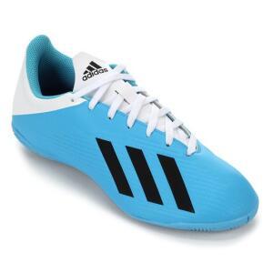 Chuteira Futsal Adidas X 19 4 IN - Azul e Branco | R$126