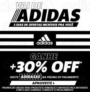 30% OFF em seleção de produtos da Adidas | Netshoes