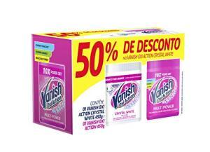 [ PRIME ] Vanish Tira Manchas Oxi Action Kit com 1 Pink 450 g e 1 Crystal White 450 g | R$14