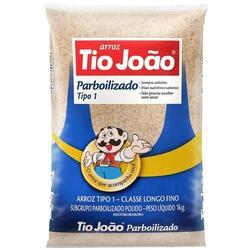 Arroz Tio João Parboilizado Tipo 1 Pacote 1kg | R$ 4,49