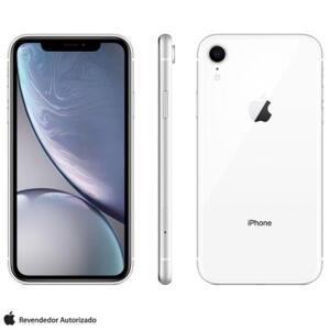 "iPhone XR Branco, com Tela 6,1"", 4G, 64 GB - R$3.297"