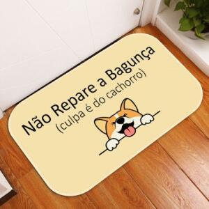 Tapete Decorativo Culpa é do Cachorro 40x60 | R$ 25