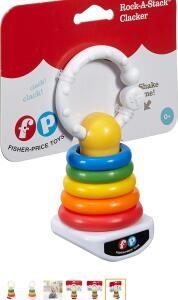 Chocalho Rockastack Clacker, Fisher Price, Mattel