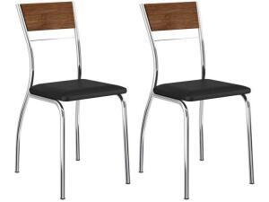[Clube da Lu] Cadeiras de Aço - Carraro - 2 peças | R$ 216