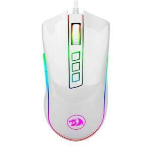 Mouse Gamer Redragon Cobra, RGB, 7 Botões, 10000DPI, Lunar White | R$ 120