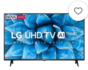 Smart TV LG 43'' 43UN7300 Ultra HD 4K WiFi Bluetooth HDR Inteligência Artificial ThinQ AI Google Assistente Alexa IOT