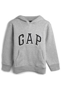 Blusa de Moletom GAP Menino Logo Cinza | R$ 78