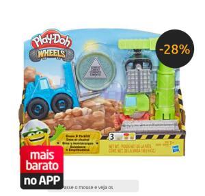 [APP] Conjunto Play-Doh Hasbro Guindaste e Empilhadeira | R$39