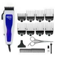Máquina de Cortar Cabelo Wahl Home Cut Basic 9155 com 8 Pentes - Cinza/Azul | R$76