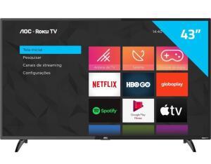 "( AME - R$ 1.233,54 ) Smart TV AOC ""43"" FHD"