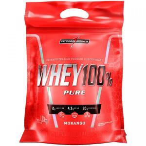 Whey 100% Pure Integralmédica - Morango - 1,8Kg | R$102