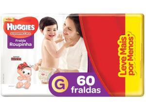 Fralda Huggies Supreme Care - Roupinha G - 60 Unidades | R$56