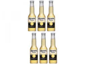 [MagaluPay] Cerveja Corona Coronita Extra Lager 6 Unidades - 210ml   R$22