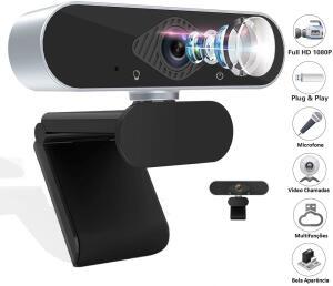 Webcam Full Hd1080p Com Microfone Para Live Videoconferências Vlog