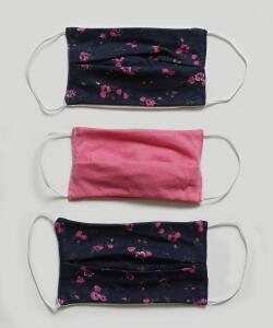 Kit 3 Máscaras Proteção Infantil Estampa Floral | R$ 12