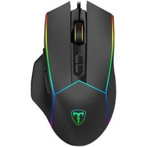 Mouse Gamer T-Dagger Camaro RGB, 8000 DPI, 8 Botões, Black, T-TGM306