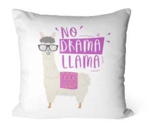 Capa para Almofada Avulsa Decorativa No Drama Lhama | R$ 17