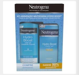 Kit Neutrogena Hydro Boost Water Gel Hidratante Corporal 400ml + Hidratante Facial FPS25 55g