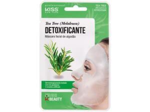 Máscara Facial Kiss New York Professional - K-Beauty Tea Tree Detoxificante 20ml R$4,6