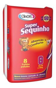 Fralda Infantil Clin Off C/8 Super Sequinho Gd | R$5,32