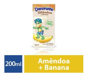 Bebida Vegetal Sem Lactose Amêndoa E Banana Danoninho 200ml | R$1,10