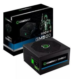 Fonte De Alimentacao Preta 500w Gamemax Gm500 80 Plus Bronze | R$353