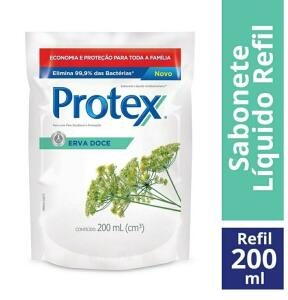Refil Sabonete Líquido Protex Erva Doce - 200ml R$5
