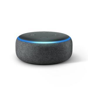 [Com Cupom R$216] Echo Dot Amazon Smart Speaker Preto Alexa 3a Geração