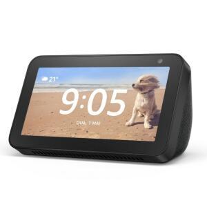 "Echo Show 5 Amazon Smart Speaker Preta Alexa em Portugues com Tela de 5,5"""" R$511"