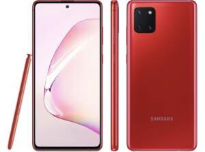 Samsung Note 10 Lite na cor Vermelho em 10x sem juros | R$1.799