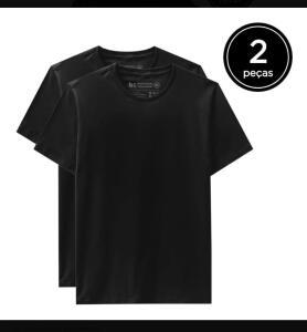 Kit 2 Camisetas Básicas | Basicamente by Malwee [R$40]