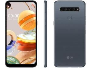 "Smartphone LG K61 128GB Titânio 4G Octa-Core - 4GB RAM 6,53"" Câm. Quádrupla + Selfie 16MP [R$1386]"
