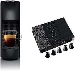 Cafeteira Nespresso Essenza Mini Preta 110V + 50 Cápsulas de Café Ispirazione Ristretto Italiano | R$ 375