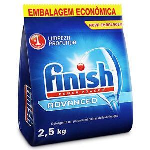 Detergente em Pó Para Lava Louças Finish Advanced, 2,5kg | R$ 49