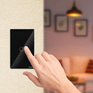 [Prime] Interruptor Inteligente Smarteck 4X2Touch Wi-Fi Preto | R$ 140