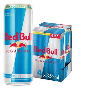 [PRIME] Energético sem Açúcar Red Bull Energy Drink Pack com 4 Latas de 355ml R$25