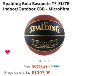 Bola de Basquete Spalding TF Elite R$198