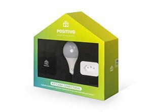 Kit Casa Conectada, Positivo Casa Inteligente Wi-Fi Compatível com Alexa | R$ 330