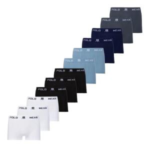 Kit 12 Cuecas Microfibra Boxer Polo Wear | R$ 140