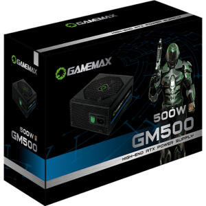 Fonte De Alimentacao Preta 500w Gamemax Gm500 80 Plus Bronze   R$338