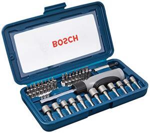 [Prime] Kit de Pontas e Soquetes Bosch para parafusar com 46 unidades | R$97