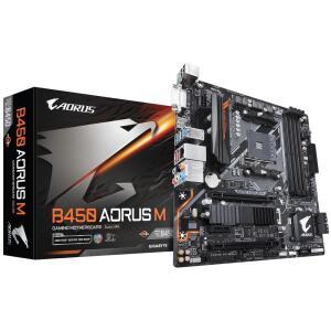 Placa-mãe Gigabyte Aorus B450 Aorus M, AMD AM4, mATX, DDR4 | R$759