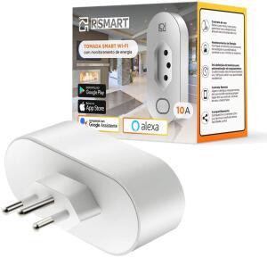 Tomada Inteligente Smart Plug Wi-Fi RSmart 10A   R$89
