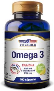 [Prime] Omega 3 Fish Oil 1.000mg Vitgold 100 cápsulas | R$61