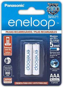 Pilha Recarregável Eneloop AAA (Palito) BK-4MCCE/2BB, Panasonic | R$30