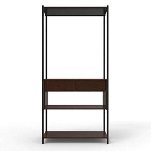 Guarda-roupa Modulado Closet com Gaveta Iron Amendoa/Preto | R$297